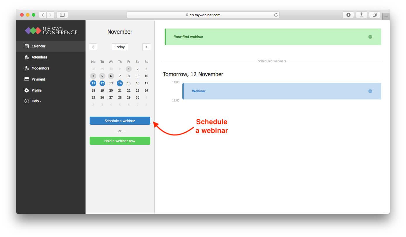 Schedule a webinar