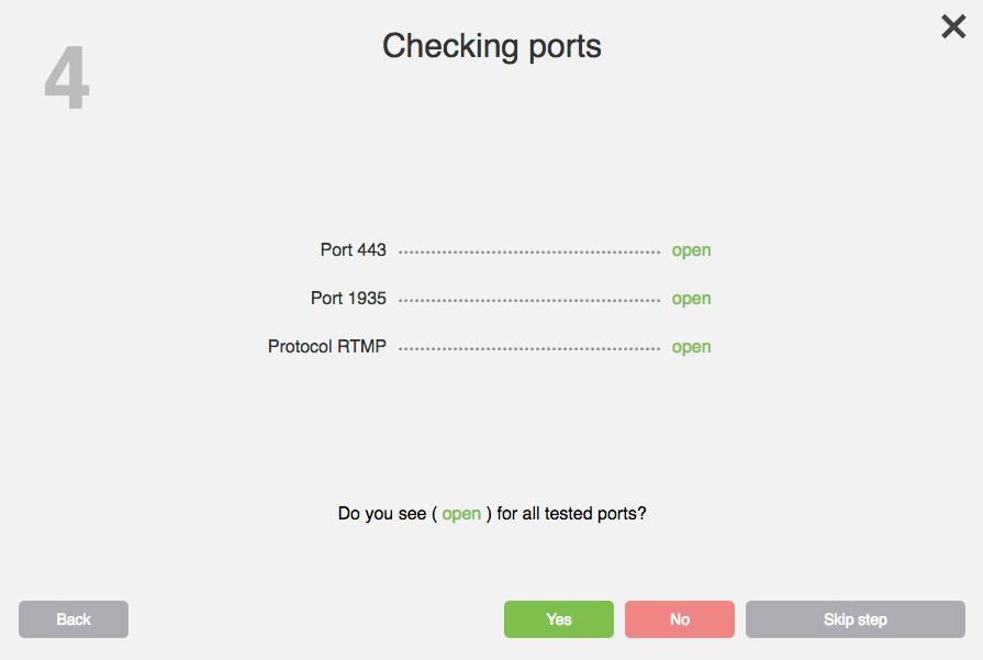 cheking ports
