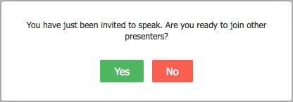 invite to speak
