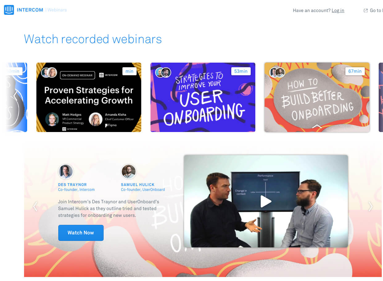 Intercom webinar