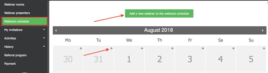 Webinars Schedule