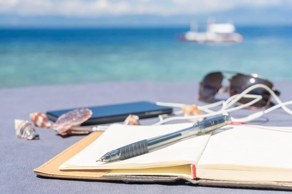 study on beach