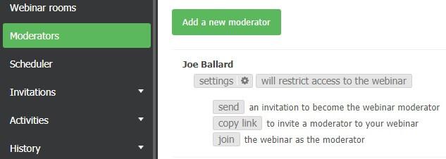 add a new moderator tab