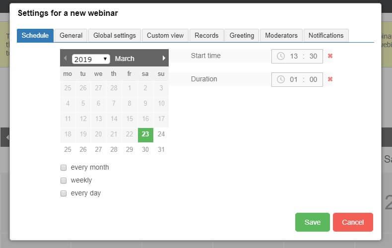 scheduler tab