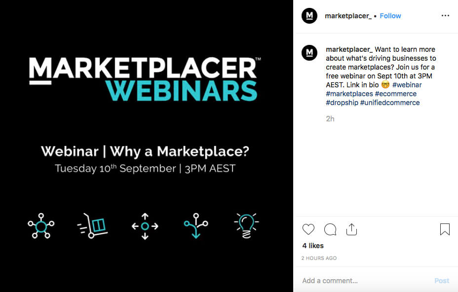 #webinar hashtag on Instagram