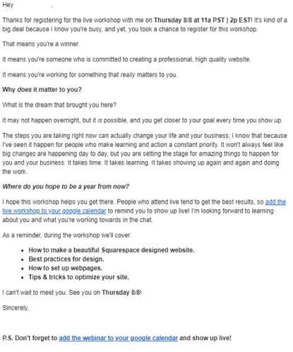 Web Design Webinar Invitation