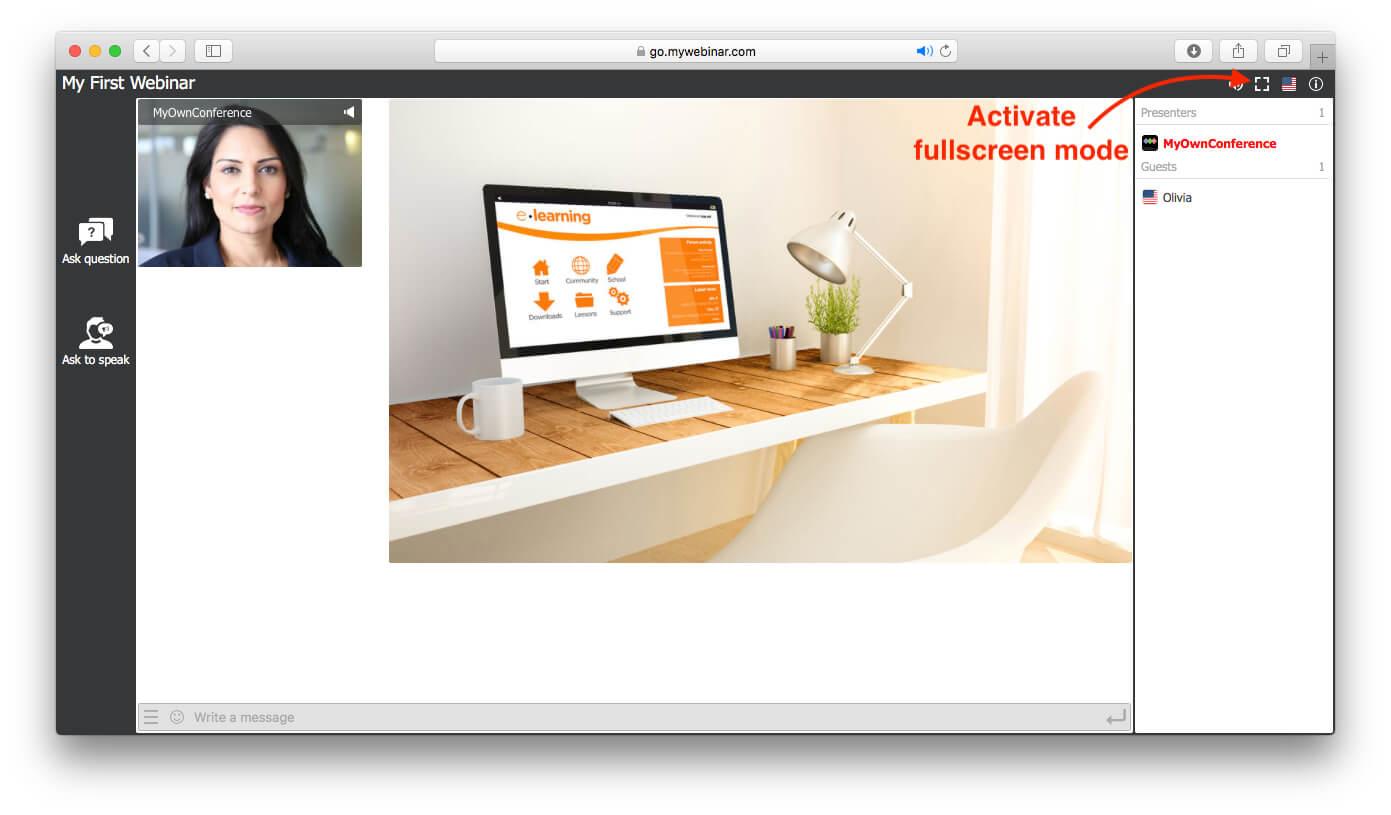 fullscreen mode