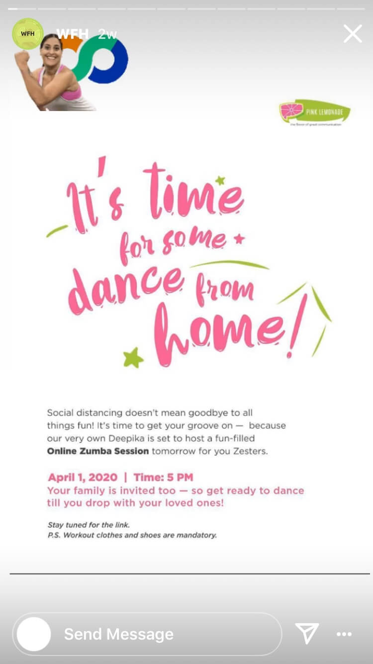 dance from home