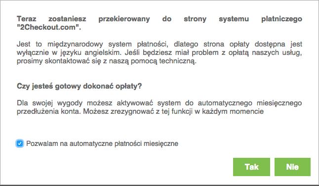 automatycznych płatności