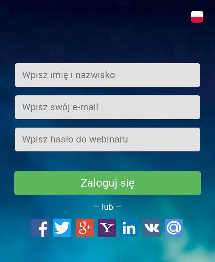wejść na webinar