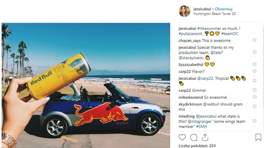 kampania promocyjna na instagramie