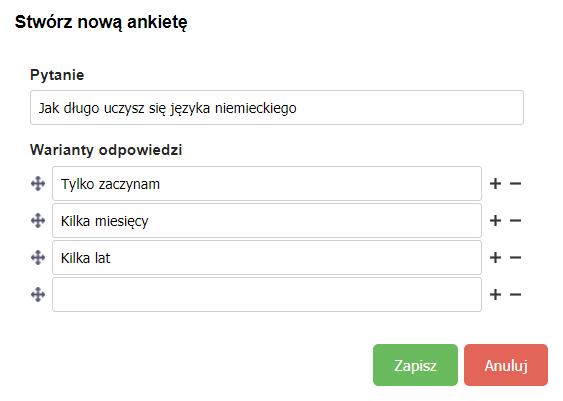 Ankieta na webinarze