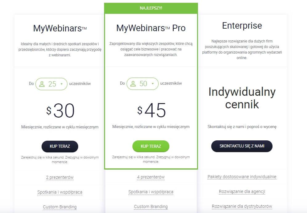 cennik clickmeeting wideoknferencje