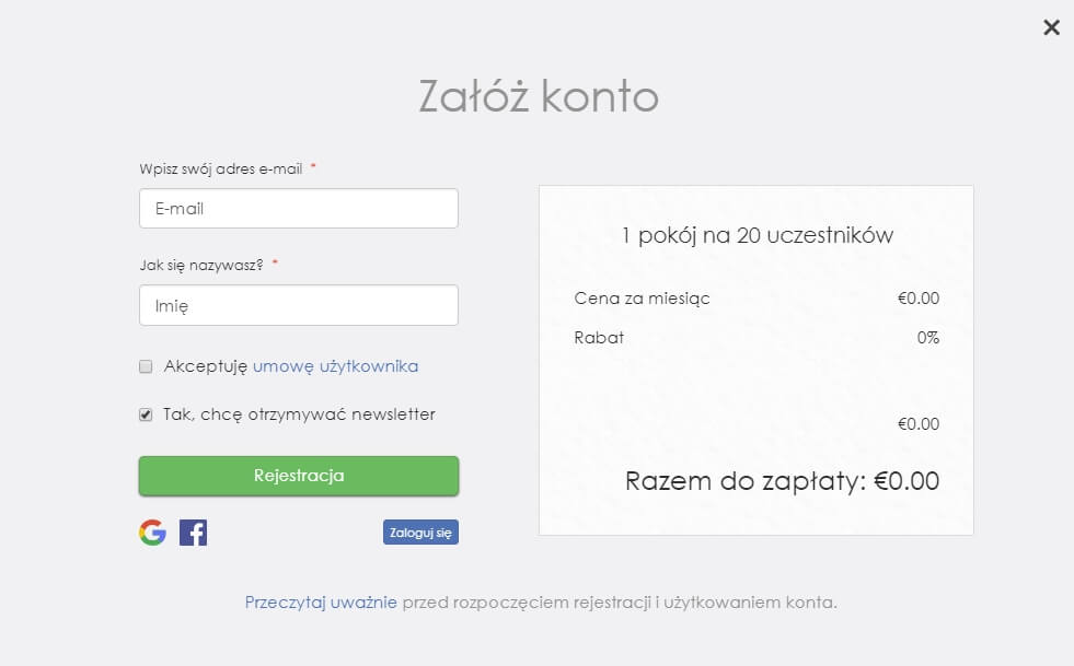 konto do prowadzenia webinarów