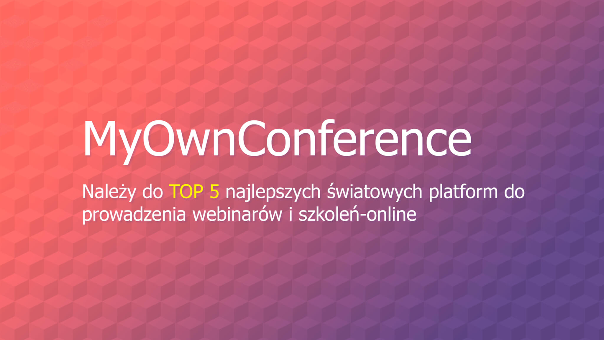 MyOwnConference banner