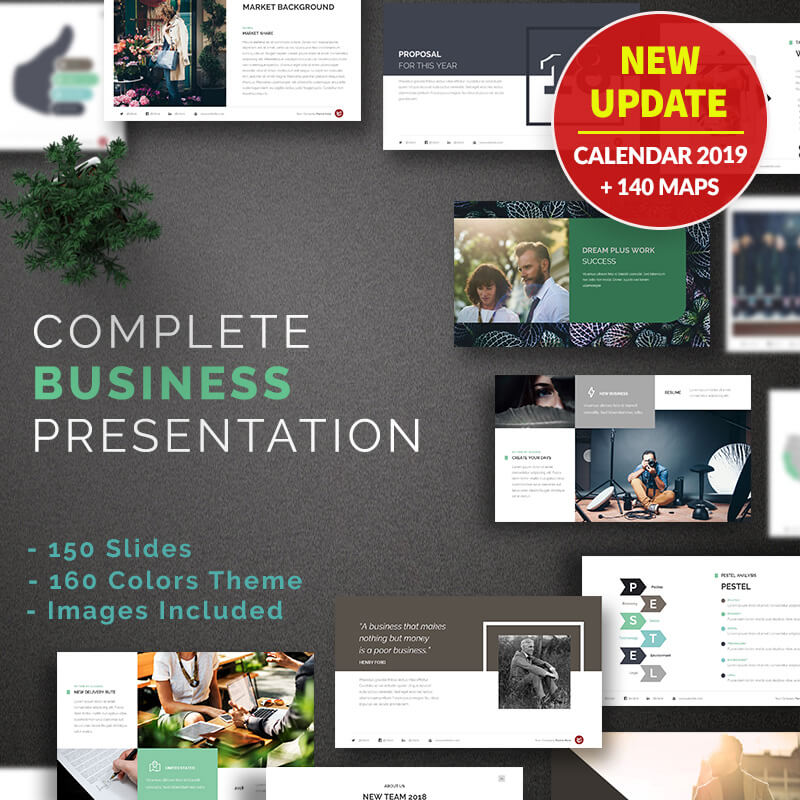 Complete business presentation